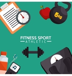 Fitness sport athletic poster design vector