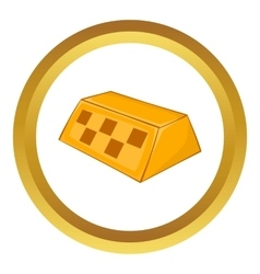Checker taxi icon vector