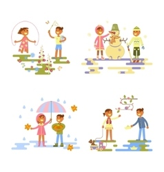 Set with babies vector