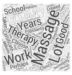 How to choose a good massage therapy school word vector