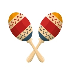 Maracas instruments isolated icon vector