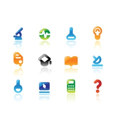 Perfect icons for science vector image