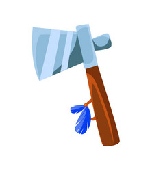 tomahawk war axe native american indian culture vector image