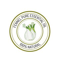 essential oil label vector image