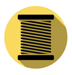 thread sign flat black icon vector image