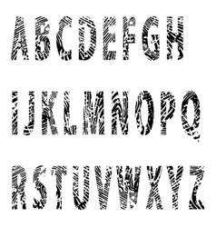Alfabet-relief letter vector