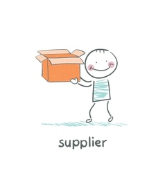 Supplier is an empty box vector