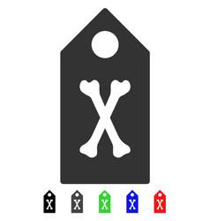 Dead marker flat icon vector