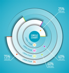 Circle chart infographic template vector