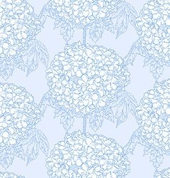 Hydrangeas seamless pattern vector image