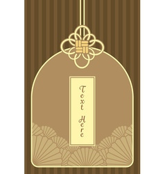 Vintage elegant golden japanese and chinese vector