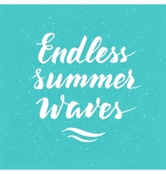 Brush lettering summer quote vector