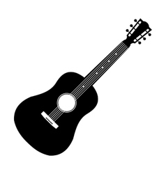 Acoustic guitar black icon vector