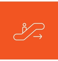 Gangway of plane line icon vector