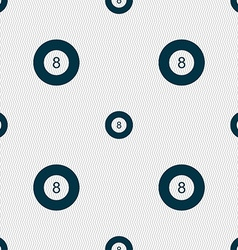 Eightball billiards icon sign seamless pattern vector