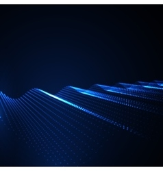 3d illuminated abstract digital wave vector