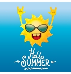 Hello summer rock n roll poster summer party vector