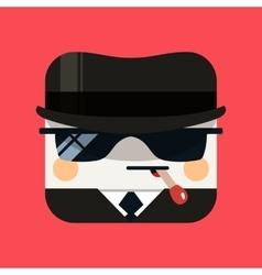 Spy avatar  trendy emissary squared vector