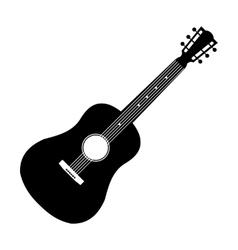 Acoustic guitar black icon vector image