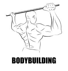 Athlete bodybuilder vector