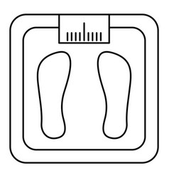 bathroom weight scale icon vector image