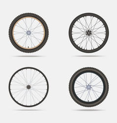 bicycle wheels and tires vector image vector image