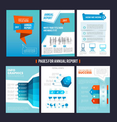 Design template of corporation annual report vector
