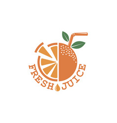 Fresh juice emblem vector