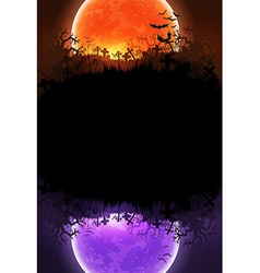 Halloween background with moon vector