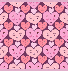 Hearts seamless pattern sweet doodle texture vector