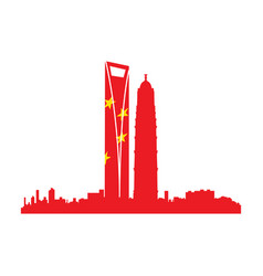 isolated cityscape of shanghai vector image