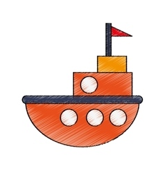 Isolated ship toy design vector image vector image