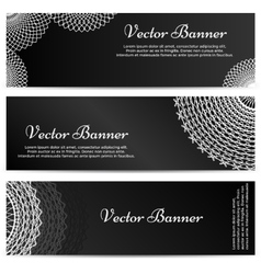 Lacework ornamental banners horizontal set vector