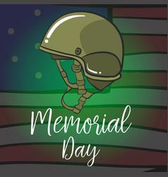 Memorial day celebration design style vector
