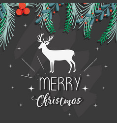 Merry christmas decoration style to celebration vector