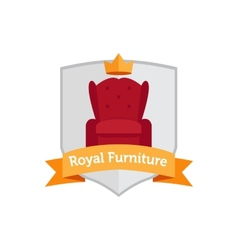 Modern flat furniture shop logo vector