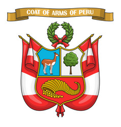 Peruvian coat of arms vector