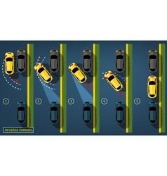 Reverse parking 02 a-02 vector