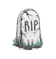 Rip tomb grave stone sketch icon vector