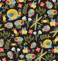 Seamless Insects Pattern vector image
