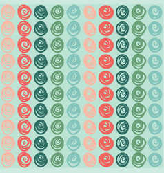 seamless pattern with stripes of swirls vector image vector image