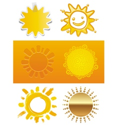 Set of a sun vector image vector image