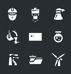 set of china industry icons vector image vector image