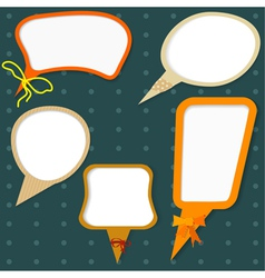 set of colors speech bubbles vector image