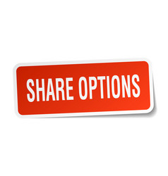 Share options square sticker on white vector
