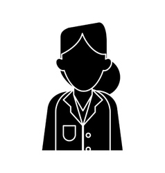 Silhouette woman doctor therapist diagnosis vector