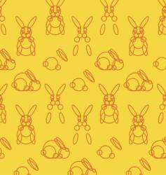 stylized rabbits vector image vector image