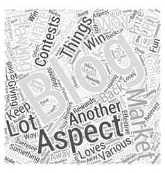 The aspects of blog marketing word cloud concept vector