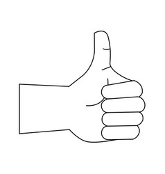 thumb up like hand symbol vector image