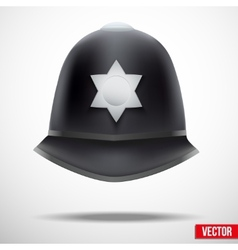 Traditional helmet of metropolitan british police vector